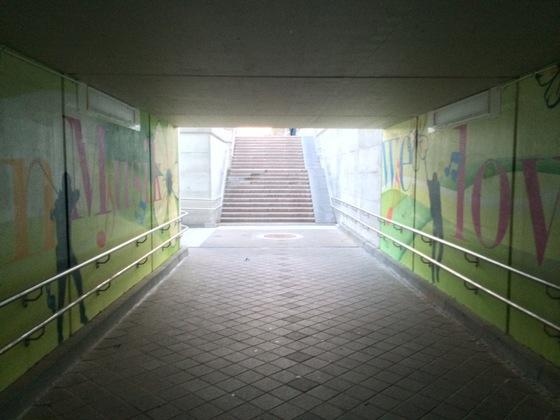 Bahnunterführung in Nauheim Mai-Juni 2014