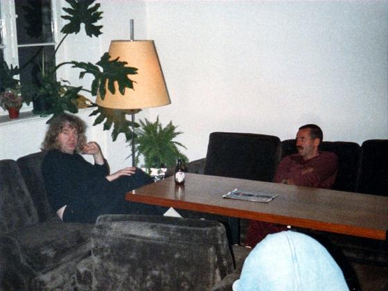 Inhaber Herberge Berlin-Kreuzberg mit Gast - 1988