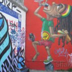 East Side Gallery - Berlin - Graffitis - Rasta - Rastaman