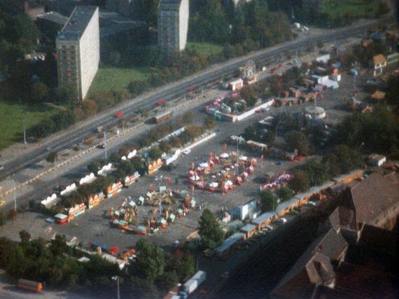 Ausblick vom Fernsehturm Ost-Berlin - 1988