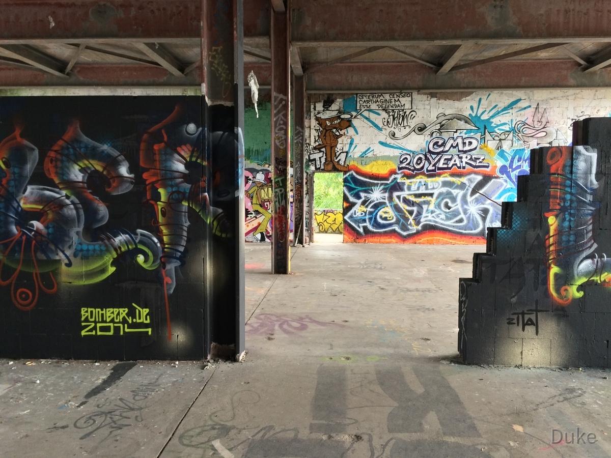 Berlin - Teufelsberg - Graffiti - Fantasy Snake - CMD 20 Yearz