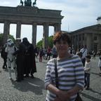 Basia vor dem Brandenburger Tor
