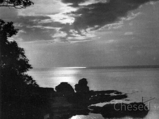 Royan 1940 - Corniche de Vallières - Coucher de Soleil