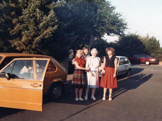 Katharina Dondalskas erster Besuch in Deutschland - Flörsheim 1985