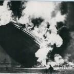 Zeppelin Katastrophe der Hindenburg LZ 129 in Lakehurst, New Jersey, am 6.5.1937