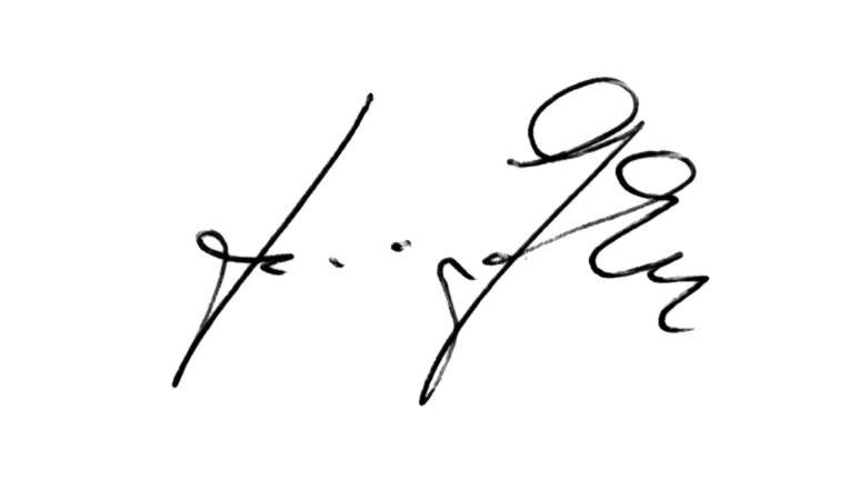 Unterschrift Heinz Gode