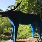 Hirsch-Skulptur im Jungfernheidepark - Berlin