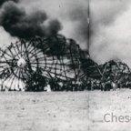 Zeppelin Katastrophe der Hindenburg LZ 129 in Lakehurst, New Jersey, 6.5.1937
