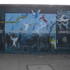 East Side Gallery - Berlin - Graffitis - Vögel - Engel