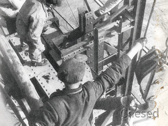 Frankfurt Flughafen - Bau Zeppelinhangar - 1937