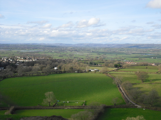 Glastonbury Tor - Wunderbare Aussicht und Landschaft
