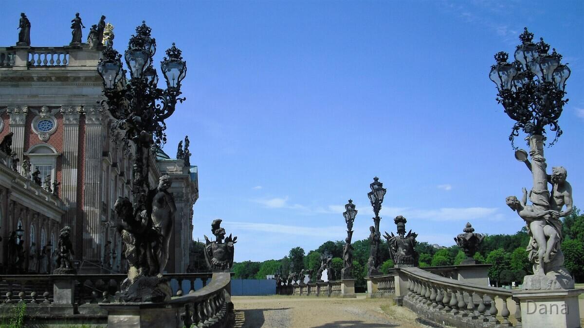 Neues Palais - Seitenansicht