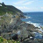 Felsige Küstenlandschaft - Cornwall - Polperro