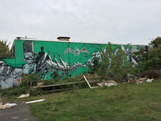 Berlin - Teufelsberg - Field Station - Überdimensionales Graffiti