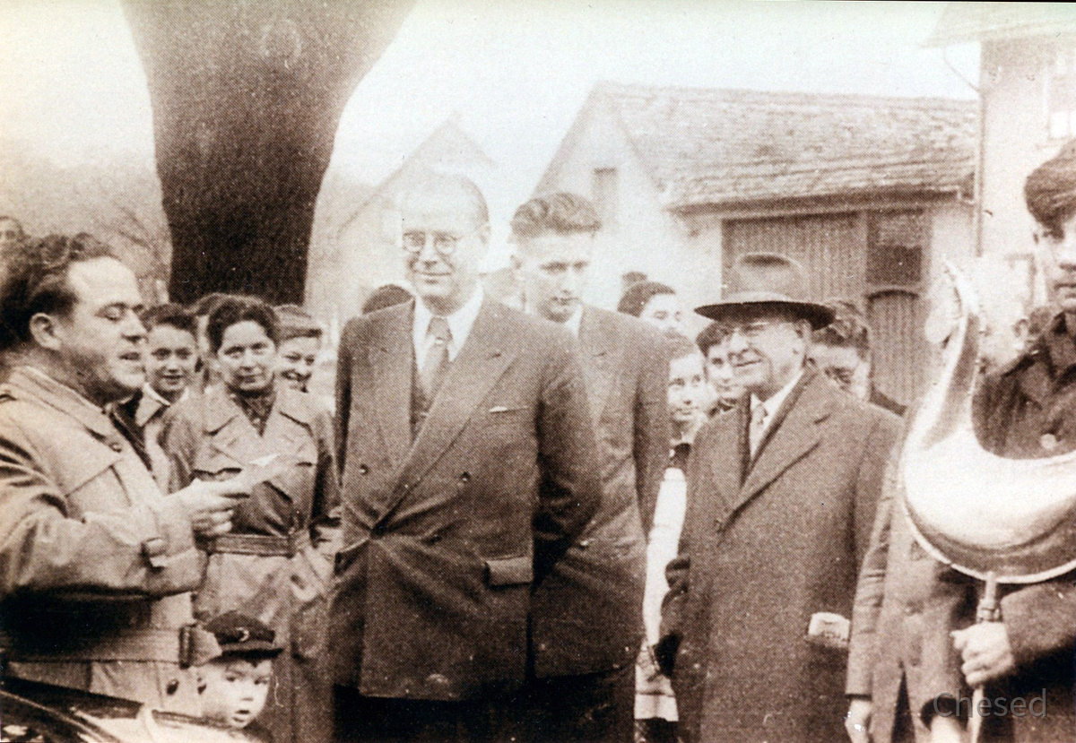 Turmgickelspende 1954 Pfarrer Ramge - Ministerpräsident Zinn