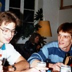 Binding-Bier-Party - Herberge - Berlin-Kreuzberg - 1988 - Andy und Vermieter