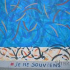 East Side Gallery - Berlin - Graffitis - Blau mit Streifen