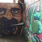 Berlin - Teufelsberg - Graffiti - Purple Mouth Man