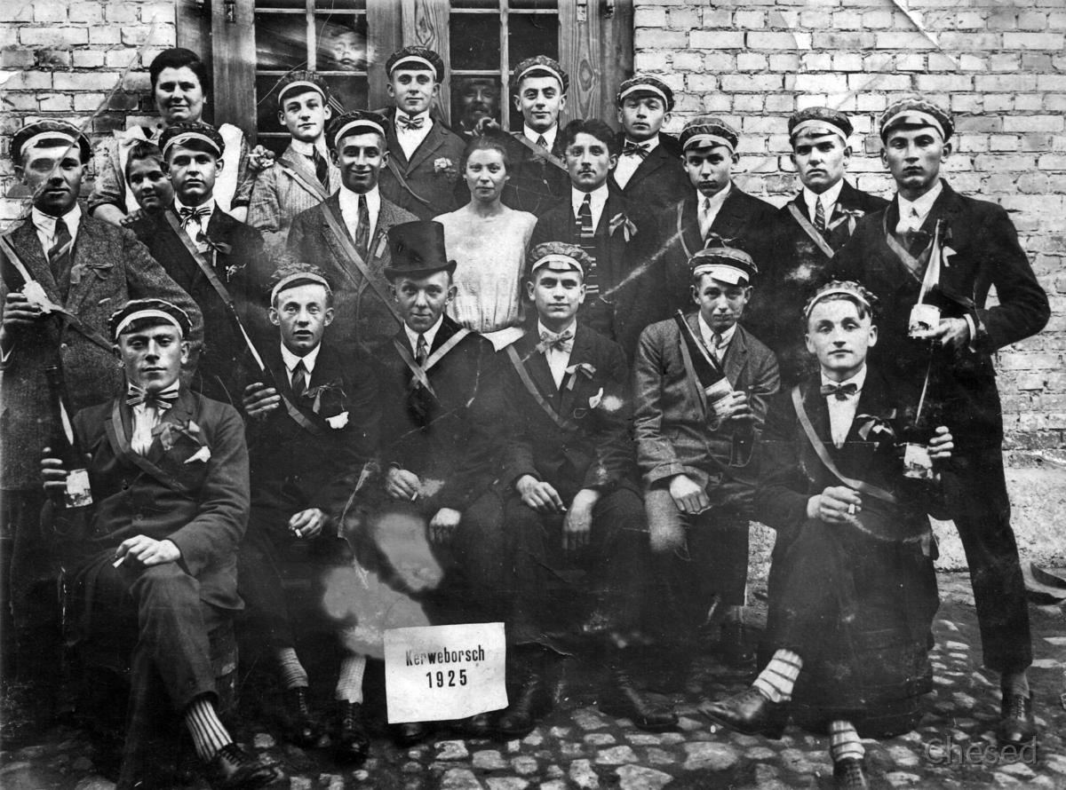 Kerweborsch Königstädten 1925 Kinsteerer Kerb wird niemals untergeh'n