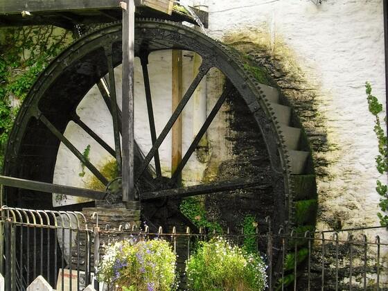 Wasserrad - Cornwall - Polperro