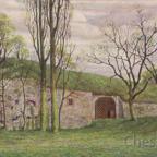 Postkarte Rüsselsheim 1917 - Westwall mit Burgtor