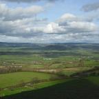 Glastonbury Tor - Aussicht auf die Grafschaft Somerset