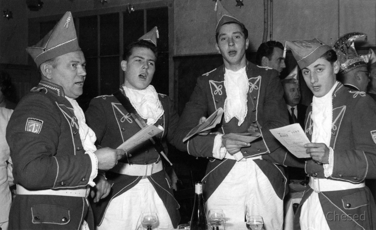 Feuerwehr Königstädten - Fanfarenzug sänger Fastnacht 1965