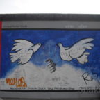 East Side Gallery - Berlin - Graffitis - Friedenstauben