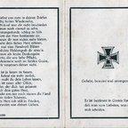Heinrich Friedrich gefallen 1943 im Schwarzen Meer-Todesanzeige-Aussen