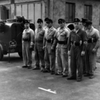 Feuerwehr Königstädten - Grundlehrgang Kassel 1958 - Stillgestanden