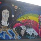 East Side Gallery - Berlin - Graffitis - Weltkugel - AKW