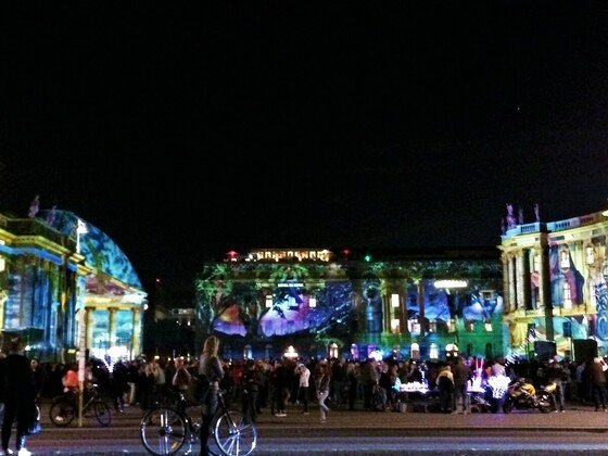 Festival of Lights - Humbold Universität - Bebelplatz