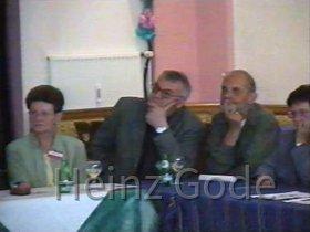 Klassentreffen 2001 Zentralschule Lehnin - Irmhild, Karl-Heinz, Dieter, Issy
