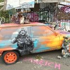 Berlin - Teufelsberg - Field Station - Graffiti Auto - Graffiti Car