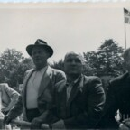 Franz Fronzik mit Schwiegervater Adam Friedrich bei Rheinfahrt 1948