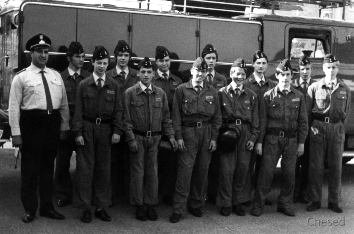 Feuerwehr Königstädten - Walter Helfenbein + Jugendfeuerwehr 1970
