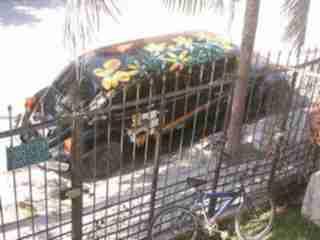 VW Käfer Stretchlimousine vor meinem Haus