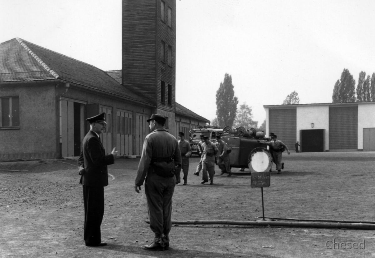 Feuerwehr Königstädten - Grundlehrgang Kassel 1958 - Befehl