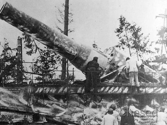 "Deutsche Mörser-Kanone ""Dicke Berta"" 1942 in Leningrad"
