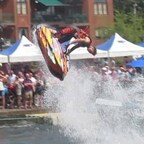 bedford river festival stunt show (with flips and flying man)