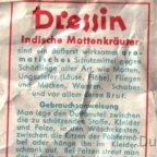 Mottenpulver - Indische Mottenkräuter - Dressin (Rückseite)