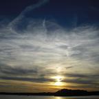 Sonnenuntergang über Tegeler See- Greenwichpromenade