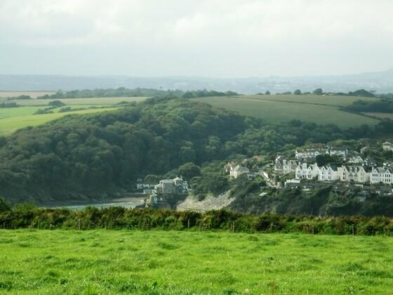 Herrlicher Blick von Bodinnick auf Fowey - Cornwall