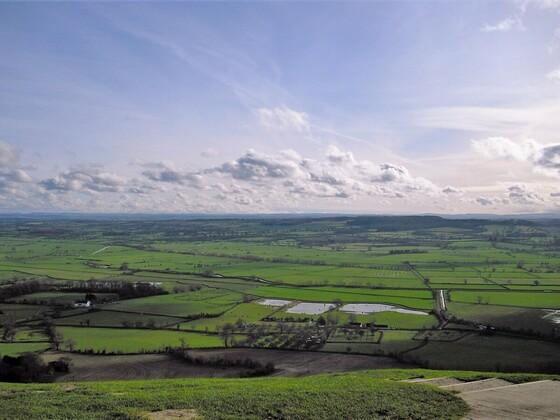 Glastonbury - Landschaft - Panorama
