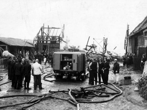 Feuerwehr Königstädten - Feuerwehreinsatz 1948