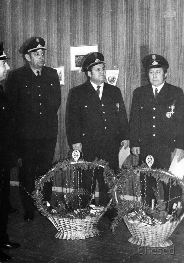 Feuerwehr Königstädten - Ehrung 25 Jahre 1971
