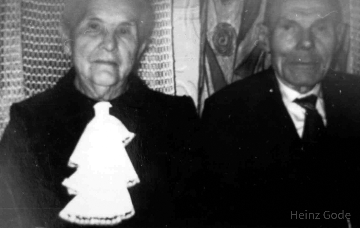 Diamantene Hochzeit August & Marie Schulze, geb. Zirpel