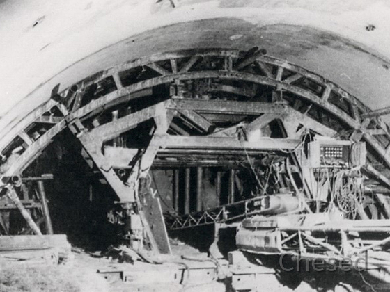 Frankfurt Flughafen - Bau der unterirdischen S-Bahn Station - 1969