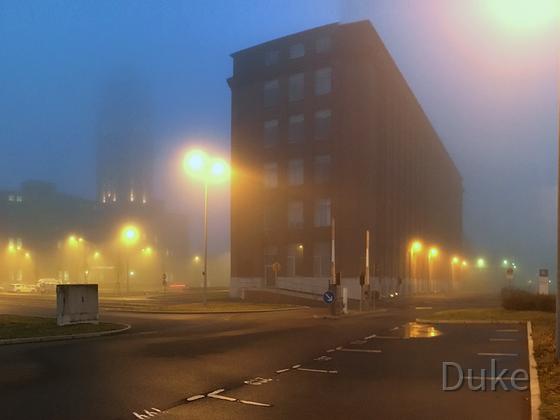 Lichter im Nebel - Neujahr 2016 - Berlin Siemensstadt - Panorama