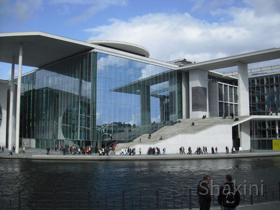 Berlin - Abgeordnetenhaus an der Spree - Bundestagsbibliothek - Plenarbereich
